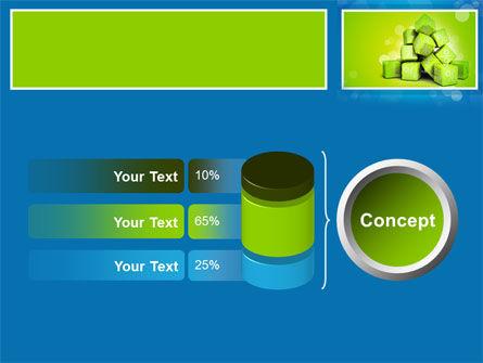 Green Percent Cubes PowerPoint Template Slide 11