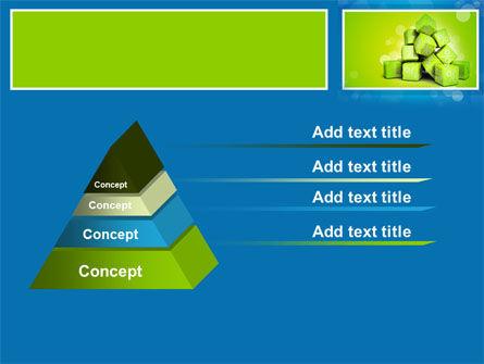 Green Percent Cubes PowerPoint Template Slide 12