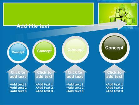Green Percent Cubes PowerPoint Template Slide 13