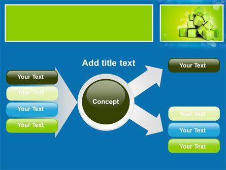 Green Percent Cubes PowerPoint Template Slide 14
