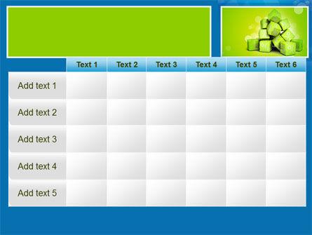 Green Percent Cubes PowerPoint Template Slide 15
