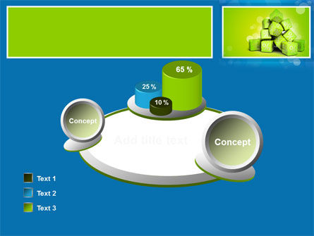 Green Percent Cubes PowerPoint Template Slide 16