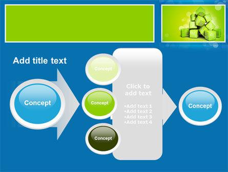 Green Percent Cubes PowerPoint Template Slide 17