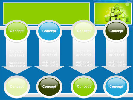 Green Percent Cubes PowerPoint Template Slide 18