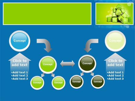 Green Percent Cubes PowerPoint Template Slide 19