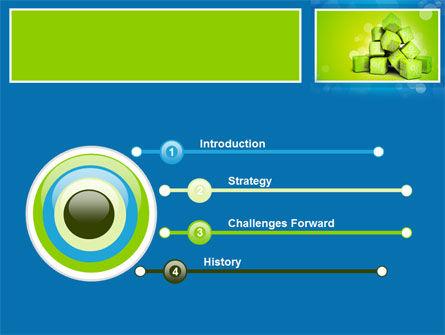 Green Percent Cubes PowerPoint Template, Slide 3, 09375, Consulting — PoweredTemplate.com