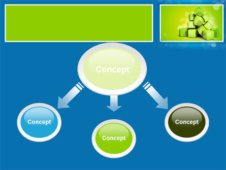 Green Percent Cubes PowerPoint Template, Slide 4, 09375, Consulting — PoweredTemplate.com