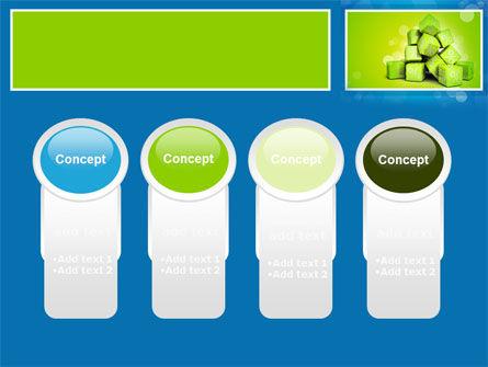 Green Percent Cubes PowerPoint Template Slide 5