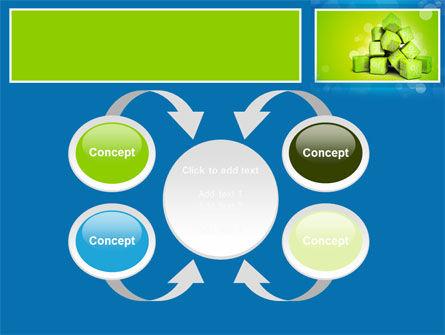 Green Percent Cubes PowerPoint Template Slide 6