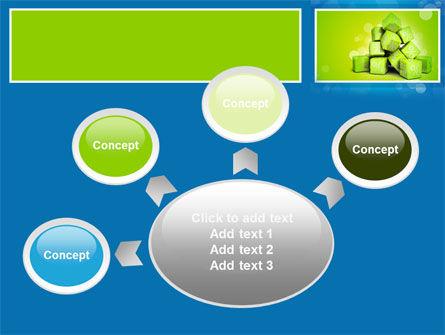 Green Percent Cubes PowerPoint Template Slide 7