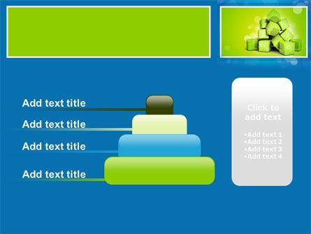 Green Percent Cubes PowerPoint Template Slide 8