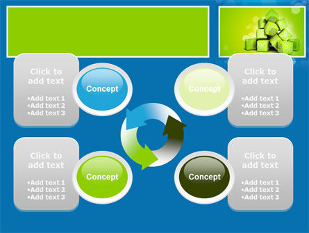 Green Percent Cubes PowerPoint Template Slide 9