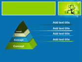 Green Percent Cubes PowerPoint Template#12