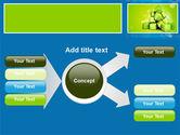 Green Percent Cubes PowerPoint Template#14