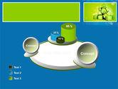Green Percent Cubes PowerPoint Template#16