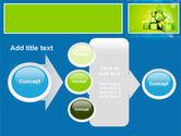 Green Percent Cubes PowerPoint Template#17