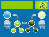 Green Percent Cubes PowerPoint Template#19