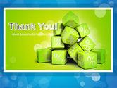 Green Percent Cubes PowerPoint Template#20