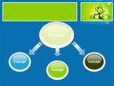 Green Percent Cubes PowerPoint Template#4