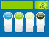 Green Percent Cubes PowerPoint Template#5