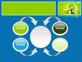 Green Percent Cubes PowerPoint Template#6