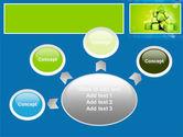 Green Percent Cubes PowerPoint Template#7