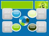 Green Percent Cubes PowerPoint Template#9
