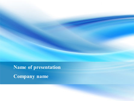 Abstract Blue PowerPoint Template, 09379, Abstract/Textures — PoweredTemplate.com