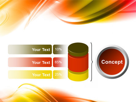 Abstract Red Yellow Garrote PowerPoint Template Slide 11
