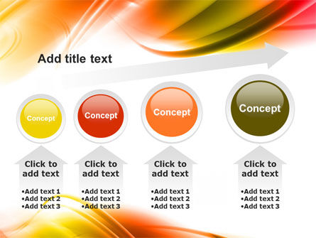 Abstract Red Yellow Garrote PowerPoint Template Slide 13