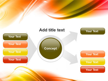 Abstract Red Yellow Garrote PowerPoint Template Slide 14