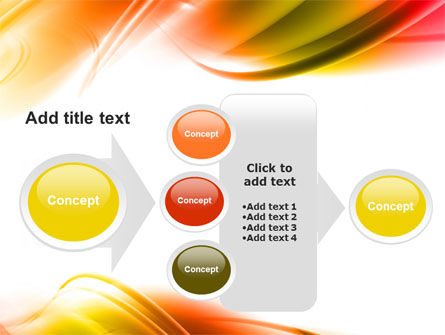 Abstract Red Yellow Garrote PowerPoint Template Slide 17