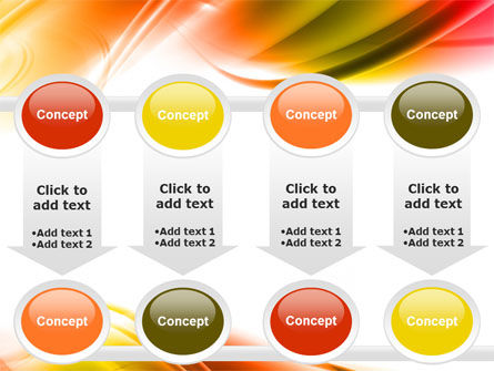 Abstract Red Yellow Garrote PowerPoint Template Slide 18