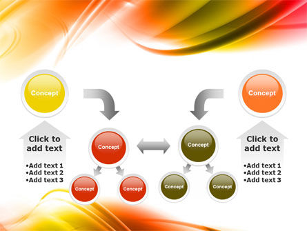 Abstract Red Yellow Garrote PowerPoint Template Slide 19
