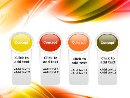 Abstract Red Yellow Garrote PowerPoint Template Slide 5