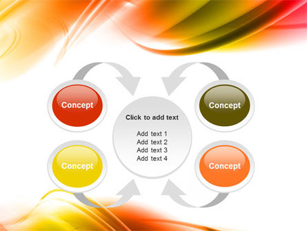 Abstract Red Yellow Garrote PowerPoint Template Slide 6