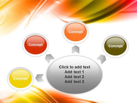 Abstract Red Yellow Garrote PowerPoint Template Slide 7