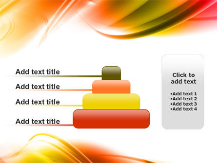 Abstract Red Yellow Garrote PowerPoint Template Slide 8