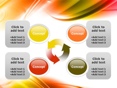Abstract Red Yellow Garrote PowerPoint Template Slide 9