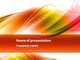 Abstract/Textures: Abstract Red Yellow Garrote PowerPoint Template #09380