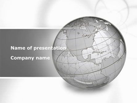 Globe Transparent Model PowerPoint Template, 09382, Global — PoweredTemplate.com
