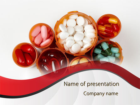Medical: Tablets In Stock PowerPoint Template #09385