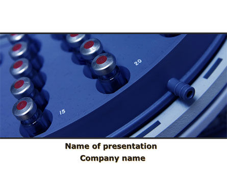 Medical Centrifuge PowerPoint Template, 09386, Technology and Science — PoweredTemplate.com