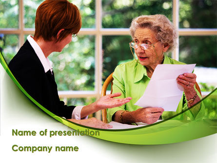 Consulting Elderly PowerPoint Template