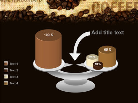 Coffee Beans On A Canvas PowerPoint Template Slide 10
