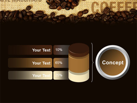 Coffee Beans On A Canvas PowerPoint Template Slide 11