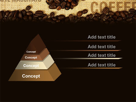Coffee Beans On A Canvas PowerPoint Template Slide 12