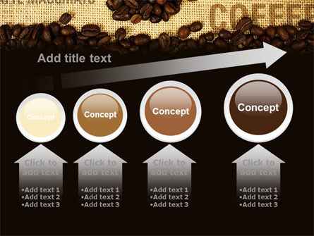 Coffee Beans On A Canvas PowerPoint Template Slide 13