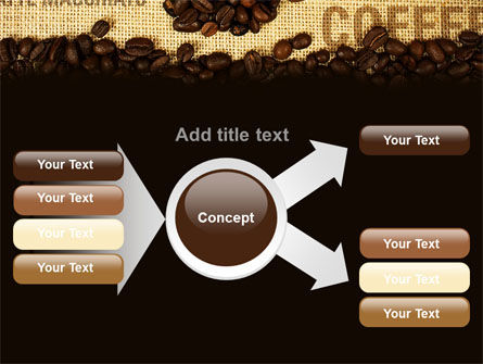 Coffee Beans On A Canvas PowerPoint Template Slide 14