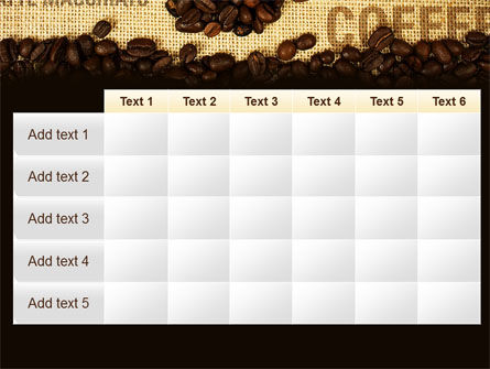Coffee Beans On A Canvas PowerPoint Template Slide 15